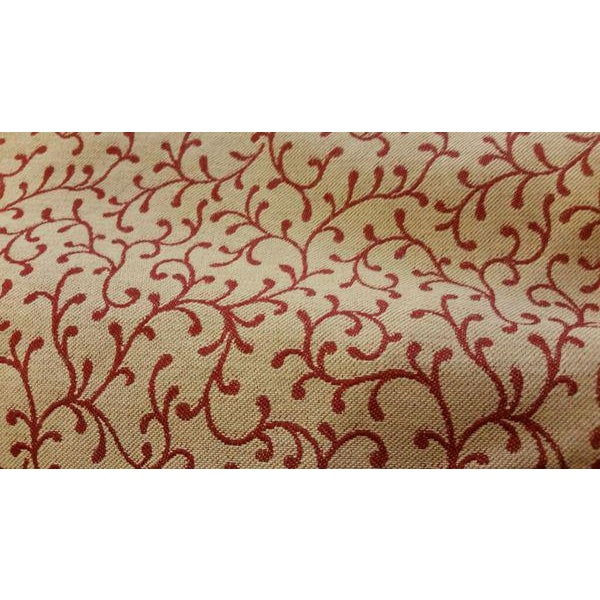 Gold & Red Fabric Valance For Sale - Image 4 of 13