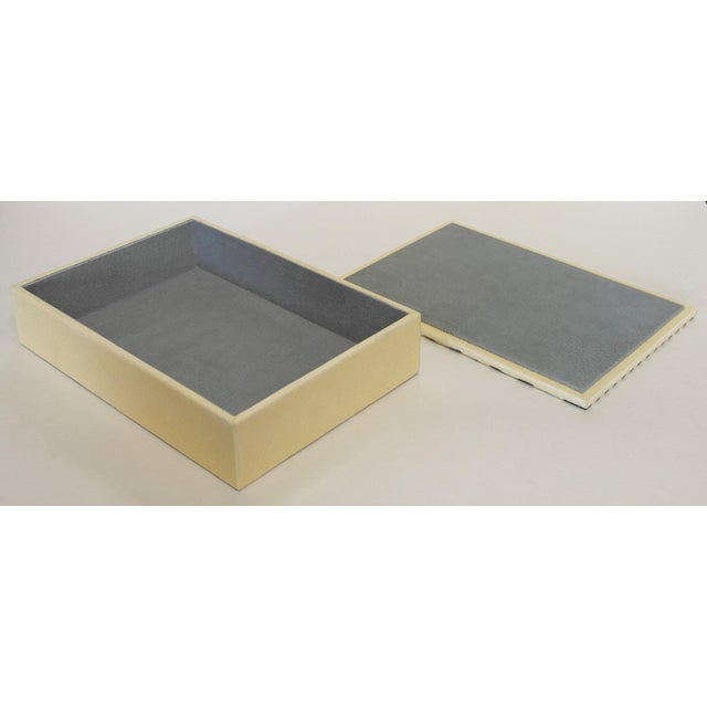 Ivory and Black Shagreen Box by Fabio Ltd For Sale In Palm Springs - Image 6 of 7