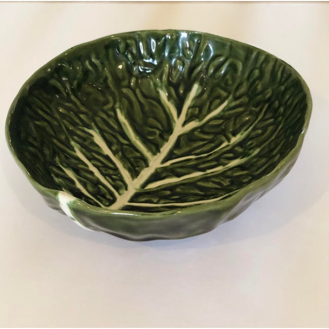 We are pleased to offer a fun, vintage set of four green cabbage plates and one salad bowl perfect for the summer...