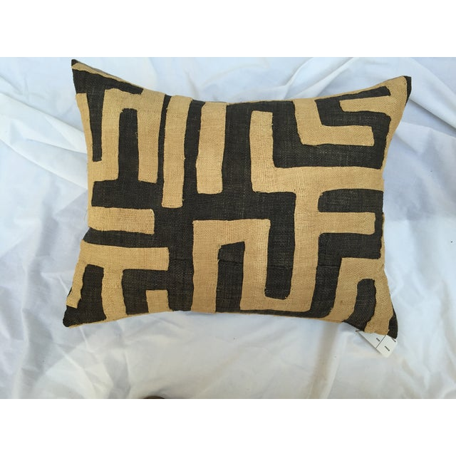 African Kuba Maze Pillows - Pair For Sale In Los Angeles - Image 6 of 6