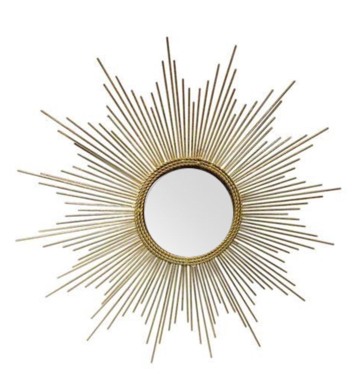 Art Deco Style Gold Starburst Mirror - Image 7 of 7