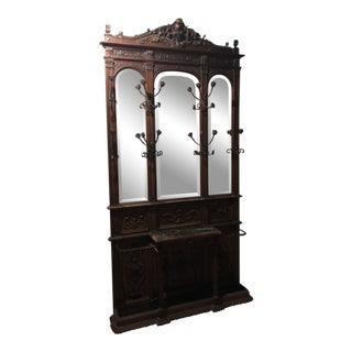 19th Century English Tradiitonal Wooden Hall Tree
