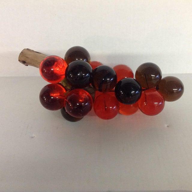 Vintage Mid-Century Orange Lucite Grapes - Image 4 of 7