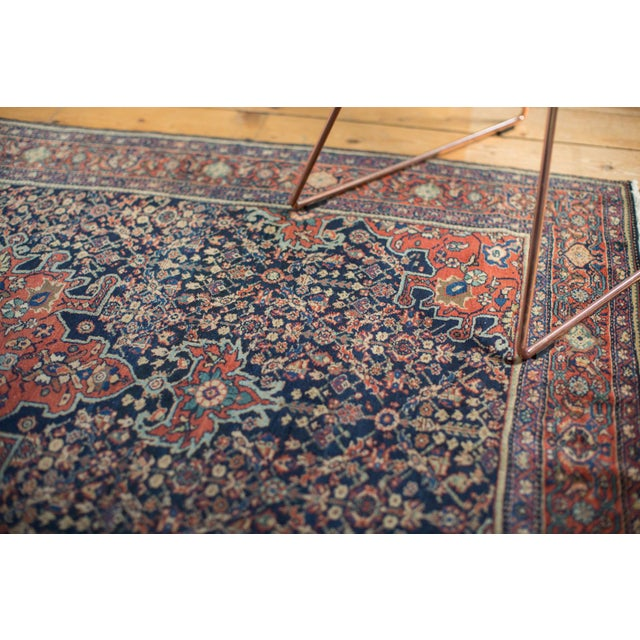 "Vintage Farahan Sarouk Rug - 4'3"" X 6'6"" For Sale - Image 9 of 11"
