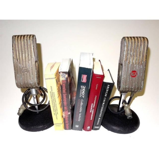 RCA 1945 RCA Vintage Broadcast Microphones As Bookends or As Sculpture. Rare and Original. For Sale - Image 4 of 10