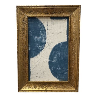 Late 20th Century Abstract Mixed-Media Painting by Shannon Weir, Framed For Sale