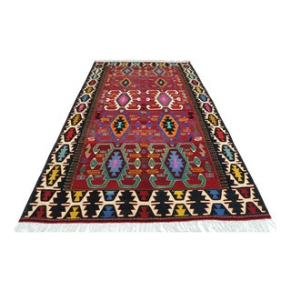 Turkish Nomads Kilim Rug-5′10″ × 9′6″ For Sale