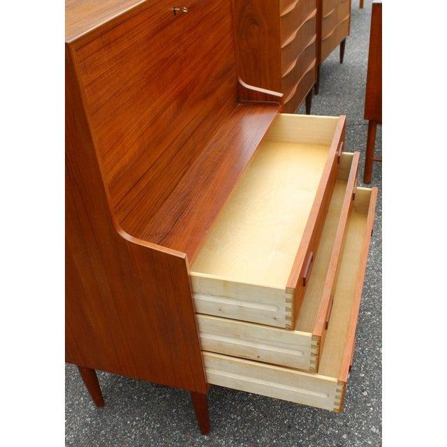 Peter Hvidt Mid-Century Modern Danish Teak Drop Down Desk Secretary Dresser Peter Hvidt 1960 For Sale - Image 4 of 7