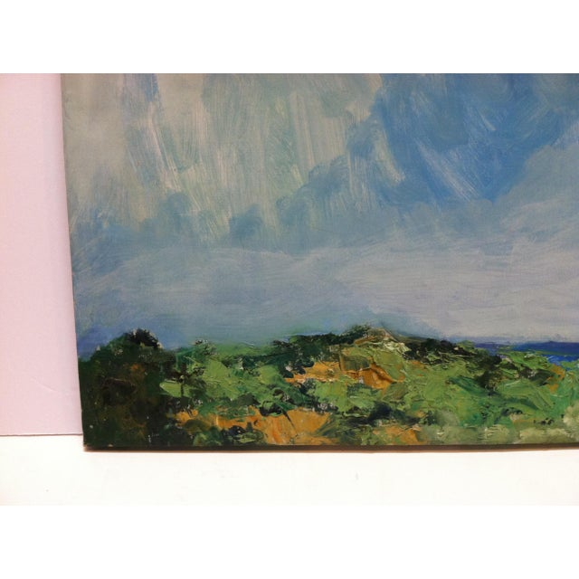 "1960s Vintage Frederick McDuff ""Blue Sky"" Signed Painting on Canvas For Sale - Image 4 of 7"