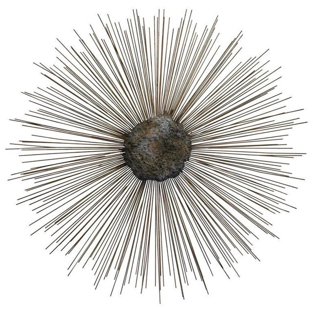 Curtis Jere Vintage Brass and Bronze Brutalist Starburst Wall Hanging - Image 9 of 10
