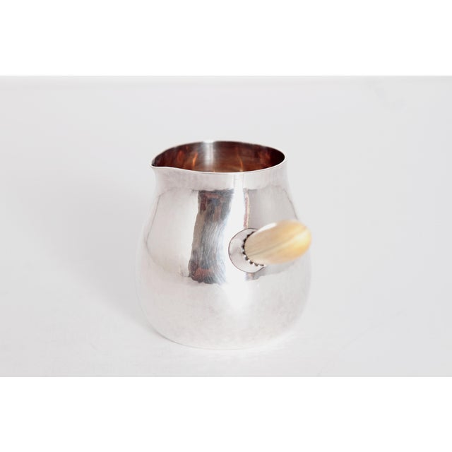 Bone Sterling Silver Coffee Set by Georg Jensen For Sale - Image 7 of 11