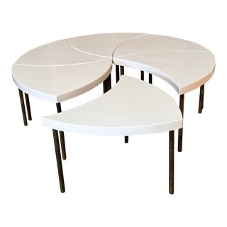 "Modernist Modular ""Pinwheel"" Coffee Table - Set of 6 For Sale"