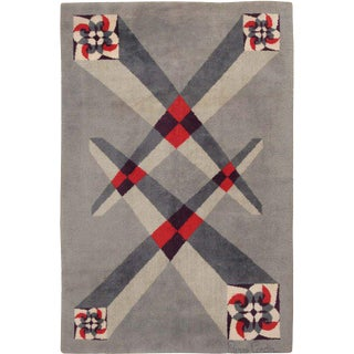Vintage French Art Deco Carpet by Pierre Cardin - 6′9″ × 9′2″ For Sale