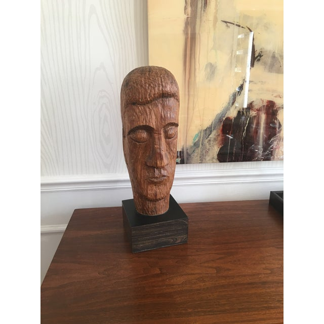 Wood Carved Statue - Image 4 of 6