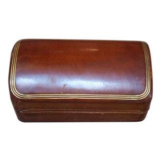 Italian Leather and Wood Box