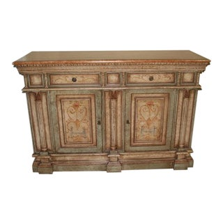 Hickman Turraza Italian Hand Painted Grand Sideboard For Sale