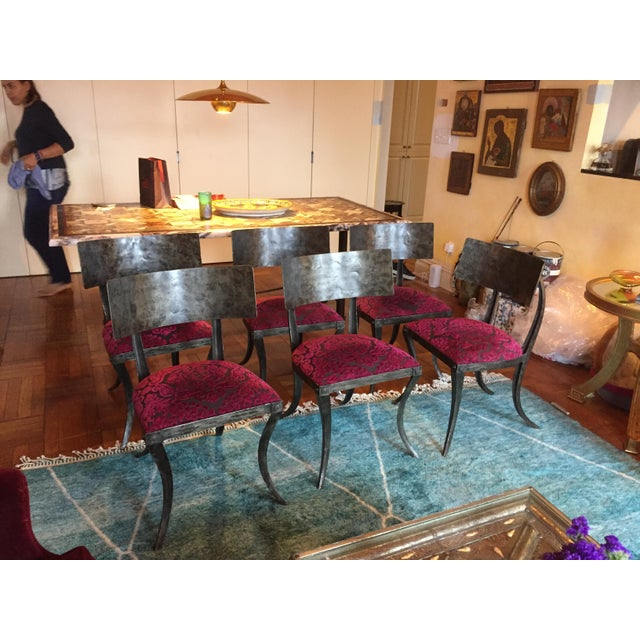 Modern Ched Berenguer-Topacio Klismos Style Hand-Forged Iron Chairs - Set of 6 For Sale - Image 10 of 10