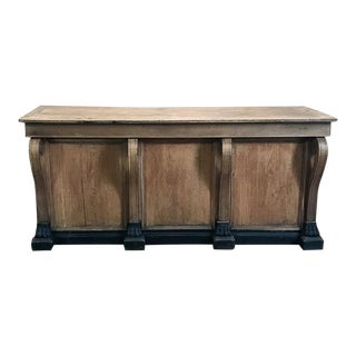 19th Century French Louis Philippe Comptoire ~ Store Counter For Sale