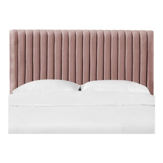 Twin Channel Headboard in Majestic Mahogany Rose For Sale