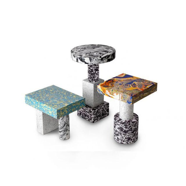 2010s Tom Dixon Swirl Low Side Table For Sale - Image 5 of 8