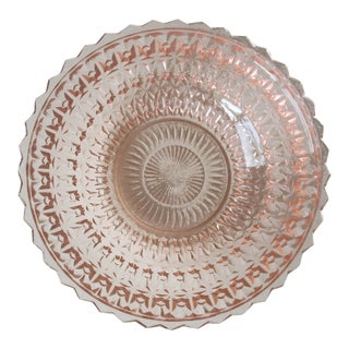 Vintage Pink Depression Glass Bowl