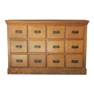 1920s Traditional 12 Drawer Apothecary Cabinet For Sale