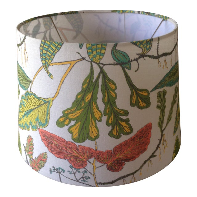 Vintage Botanical Print Lamp Shade For Sale