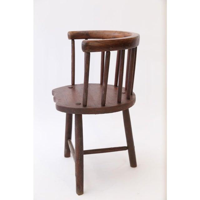 Scottish Horseshoe Back Chair For Sale - Image 4 of 12