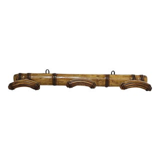 19th-C. French Faux Bamboo Coat Rack For Sale