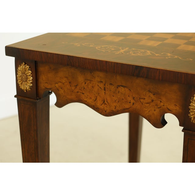 Maitland Smith Inlaid Walnut Games Table Top Occasional Table For Sale In Philadelphia - Image 6 of 11