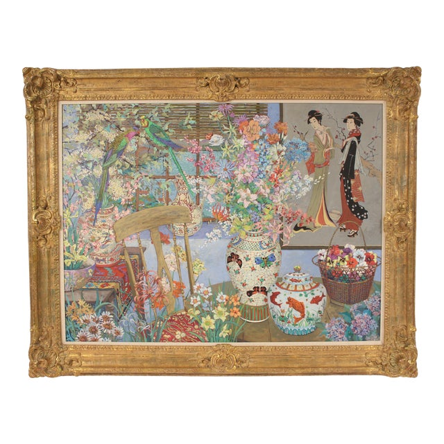 Chinoiserie Still Life by John Powell For Sale