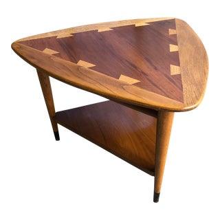 Mid Century Modern Lane Acclaim Guitar Pick Triangular Side Table
