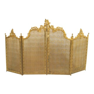 Victorian Louis XV Fire Screen For Sale