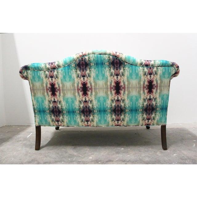 Lane Furniture Modern Custom Upholstered Boho Chic Love Seat For Sale - Image 4 of 8