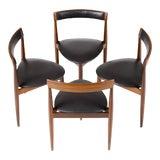 Image of Hans Olsen for Frem Rojle Danish Modern / Mid Century African Teak Dining Chairs - Set of 4 For Sale