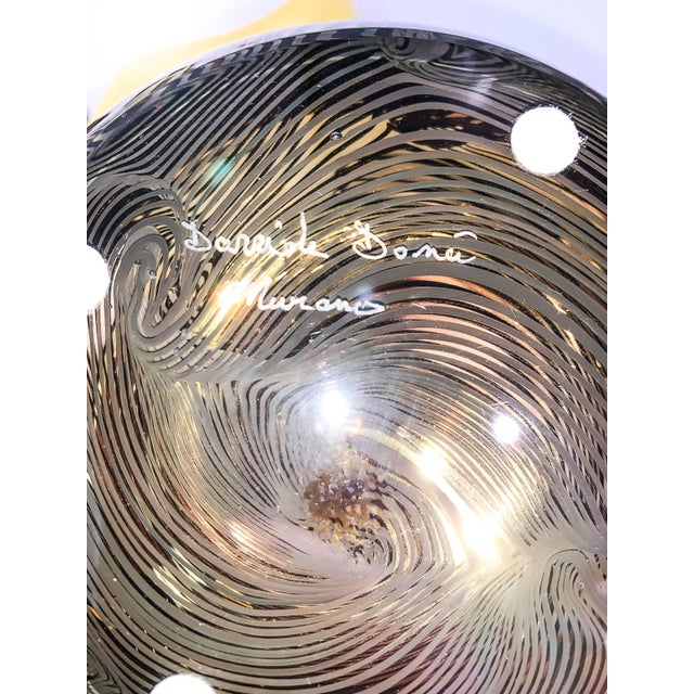 2010s 21st Century Murano 24k Gold Giungla Italian Vase by Dona For Sale - Image 5 of 6