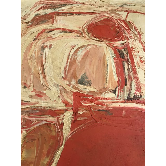 1961 Signed Abstract Expressionist Oil on Canvas Painting - Image 6 of 8