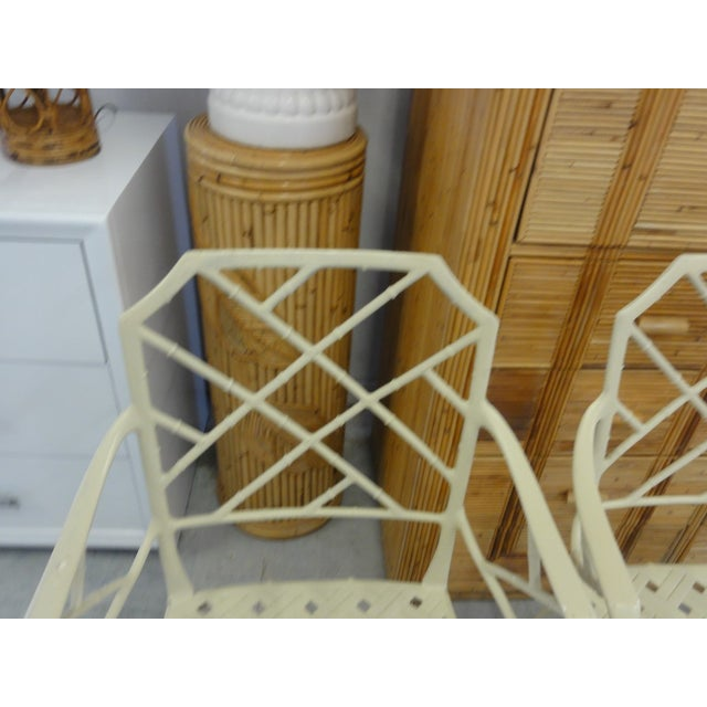1960s Brown Jordan Calcutta Faux Bamboo Chairs - a Pair For Sale - Image 5 of 8