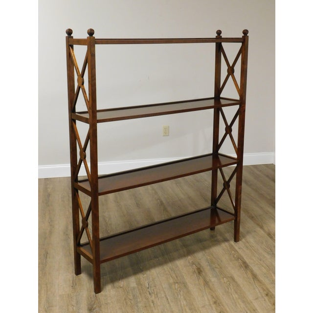 High Quality Solid Cherry Wood Open Bookcase with X Design Sides by Grange Store Item#: 25933