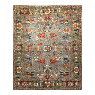 One-Of-A-Kind Oriental Serapi Hand-Knotted Area Rug, Smalt, 8' 1 X 10' 0 For Sale