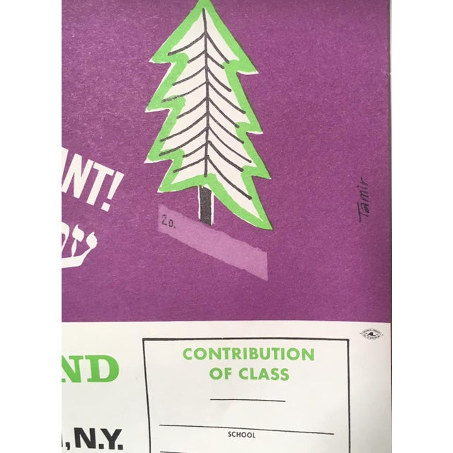 1970s Vintage Jewish National Fund Youth Woodland Poster For Sale - Image 4 of 5