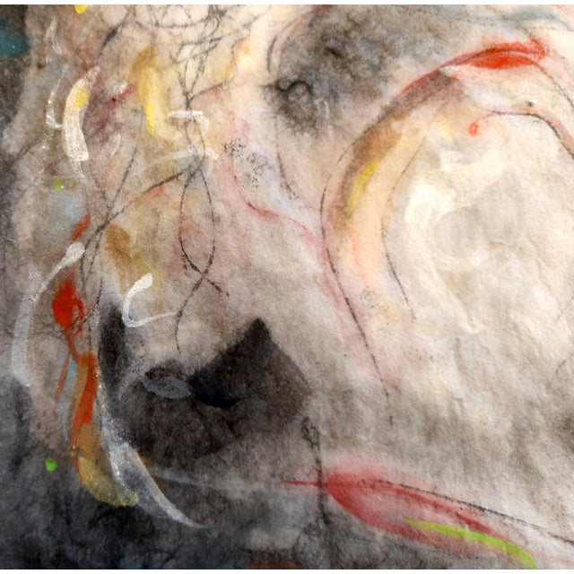 """Abstract """"Woman Washing Her Hair"""" Abstract Figurative Painting For Sale - Image 3 of 5"""