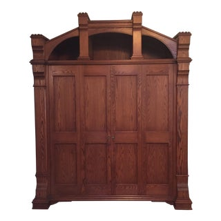 Custom Built Wood Armoire