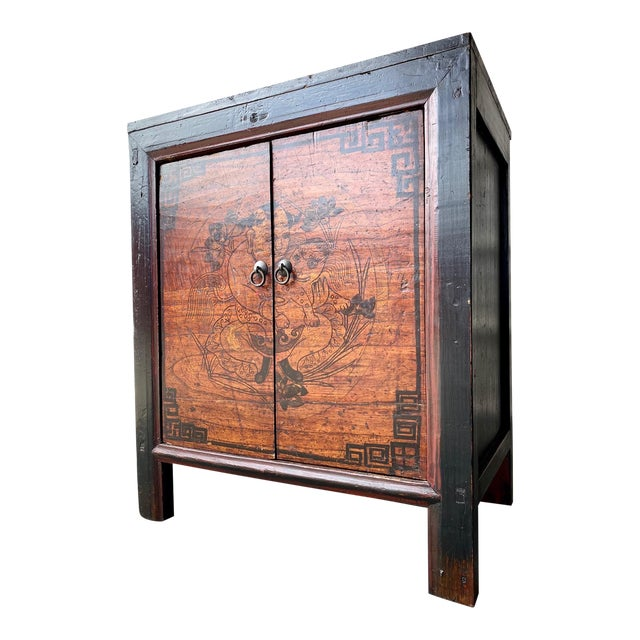 Late 19th Century Antique Mongolian Chinese 2 Door Cabinet For Sale