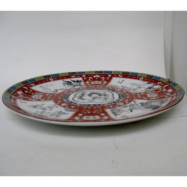 Asian Porcelain Charger For Sale - Image 3 of 8