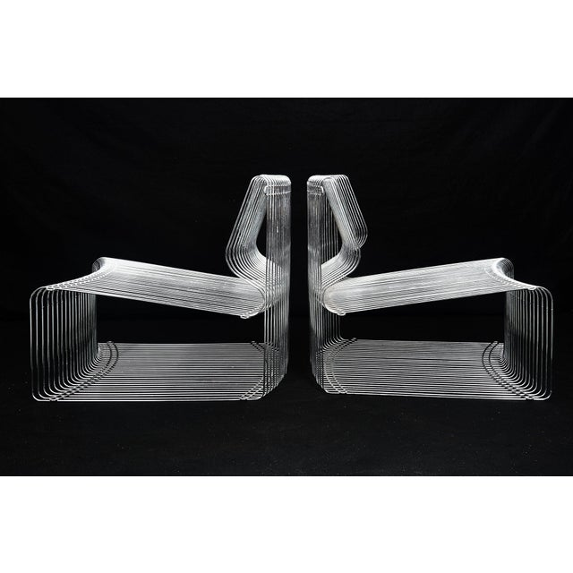 Pair of Pantonova Lounge Chairs designed by Verner Panton for Fritz Hansen Made in Denmark, circa 1970's Formed parallel...