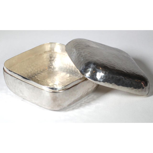 Hammered Silver Plated Box - Image 3 of 3