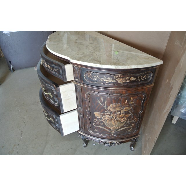 Brass French Hand Decorated Commode For Sale - Image 7 of 7