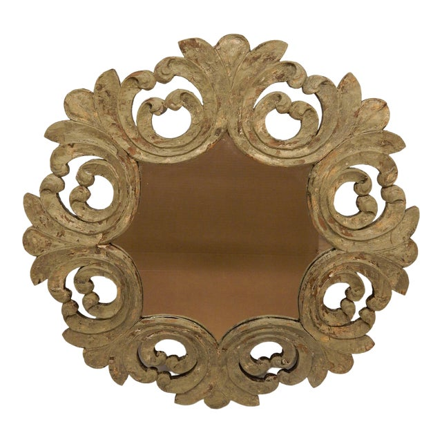 19th Century Italian Rococo Painted Mirror For Sale