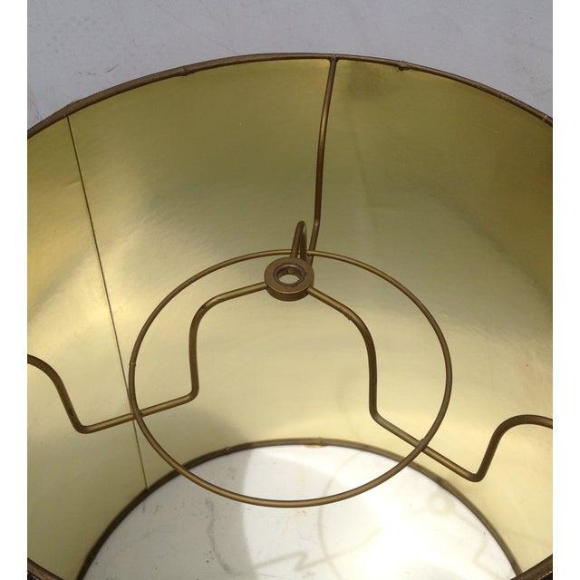 Mid-Century Modern Barrel Lampshade Tortoise Shell - Image 6 of 6